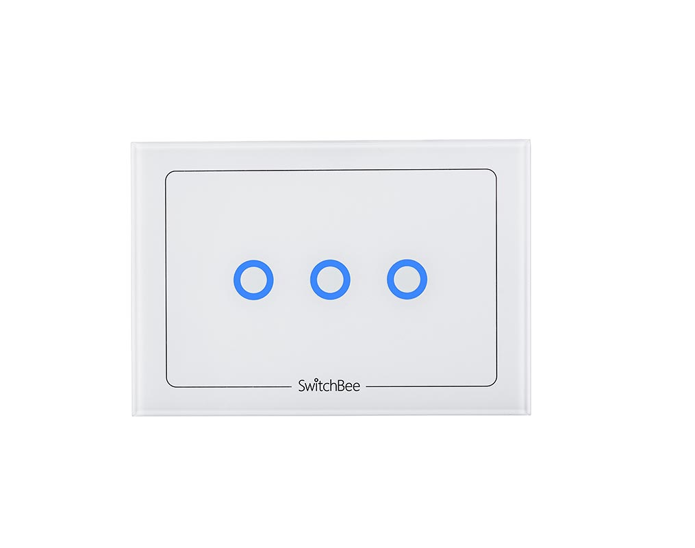 Switch Faceplate Decorative Faceplate For 3 Way Module  Italian Clear Glass Style